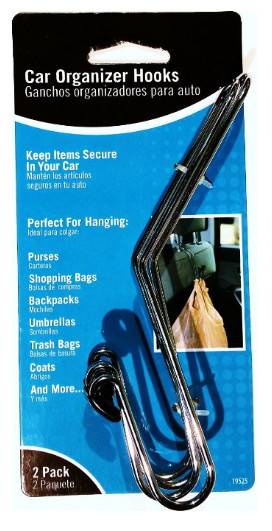 Best Hangers. Car Organizer Hooks from Crown Bolt